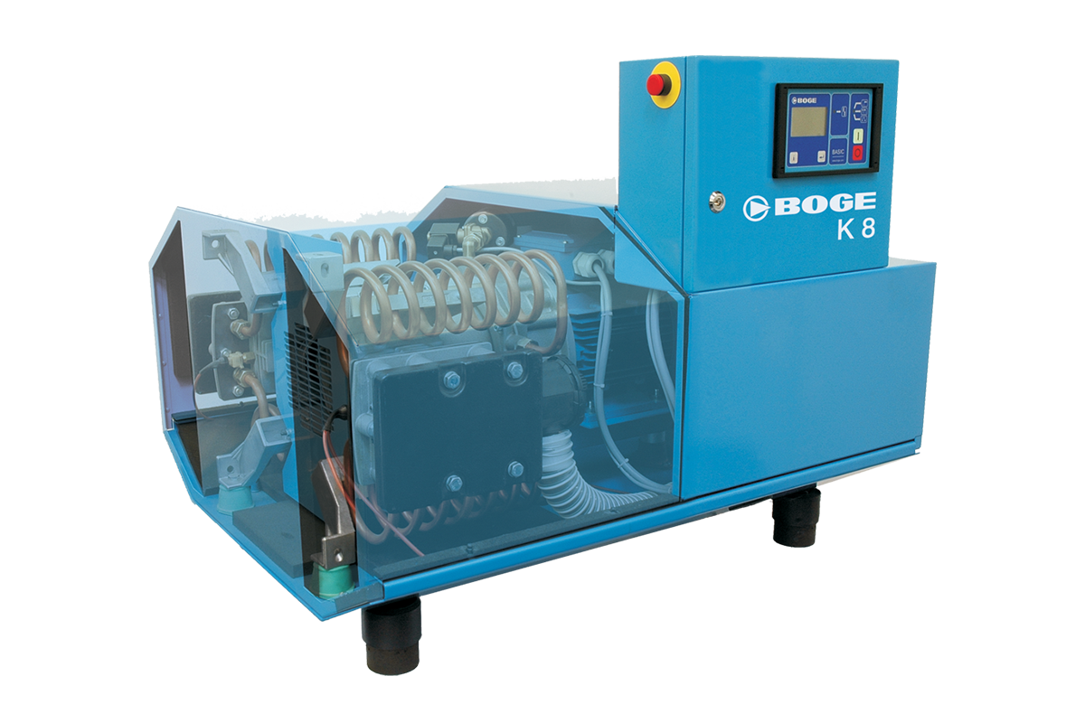 boge k series oil free piston compressors, suited for fluctuating compressed air demand