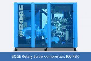 BOGE Rotary Screw Compressors 100 PSIG